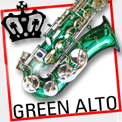 Sterling Green Alto SAX • Brand NEW • EB Saxophone • With ...