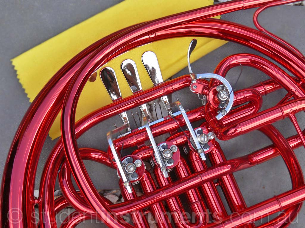 red bb f sterling double french horn highest quality brand new. Black Bedroom Furniture Sets. Home Design Ideas